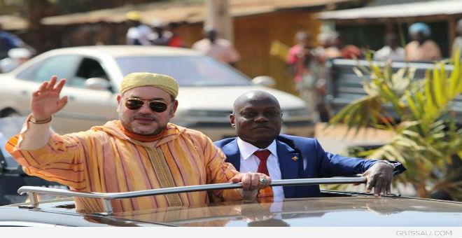 بالصور.. استقبال حاشد للملك محمد السادس في غينيا بيساو