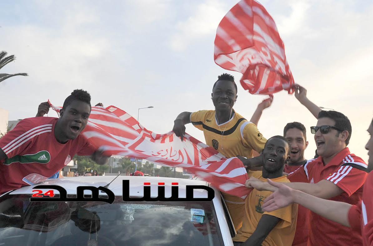 بالفيديو:غابونيون ونيجيريون يحتفلون بفوز الوداد بالبطولة