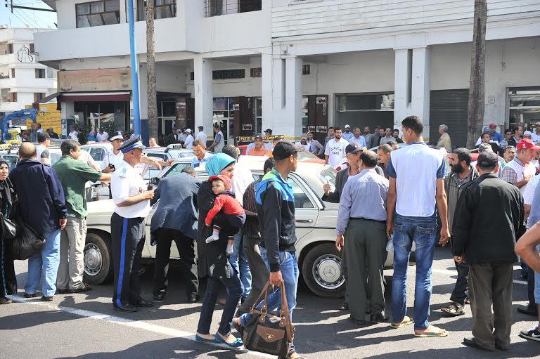 منع مسيرة لسائقي سيارات الأجرة