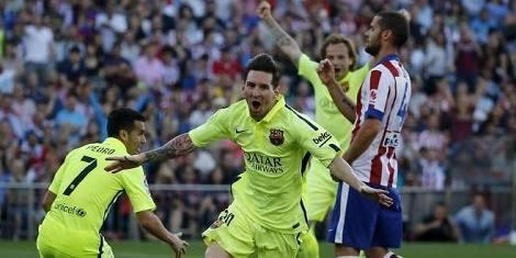 برشلونة يتوج بلقب الليغا عقب فوزه على الأتلتيكو