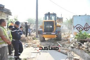 هدم منازل دوار القامرة في الدار البيضاء