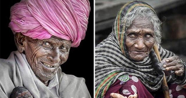 بالصور.. وجوه قاسية رسمها الفقر في الهند