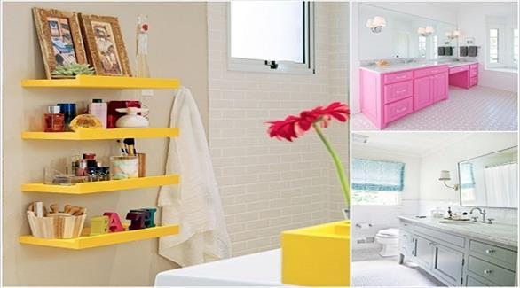 9 أفكار لإضافة الألوان الزاهية إلى ديكور الحمّام