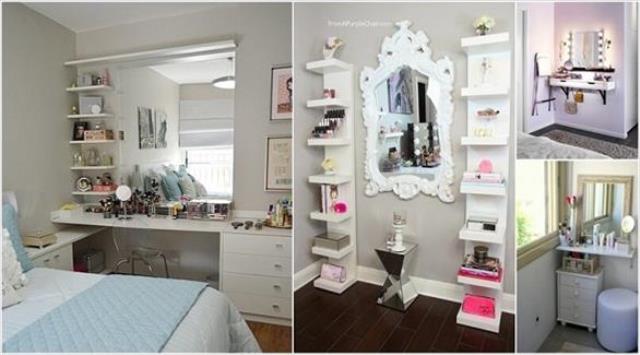 10 أفكار لإضافة زاوية للمكياج في غرفة النوم