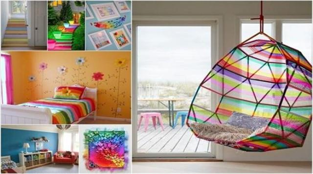 10 أفكار لإضفاء الحياة على ديكور المنزل بألوان قوس قزح