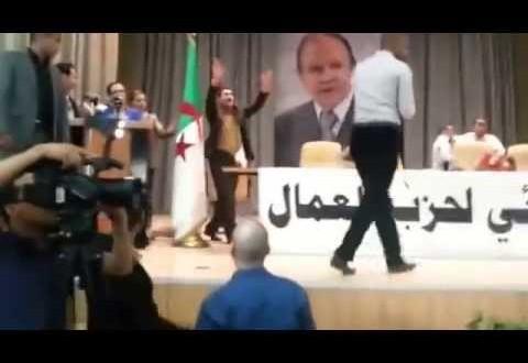 شاب يتعرض للضرب خلال تجمع لويزة حنون
