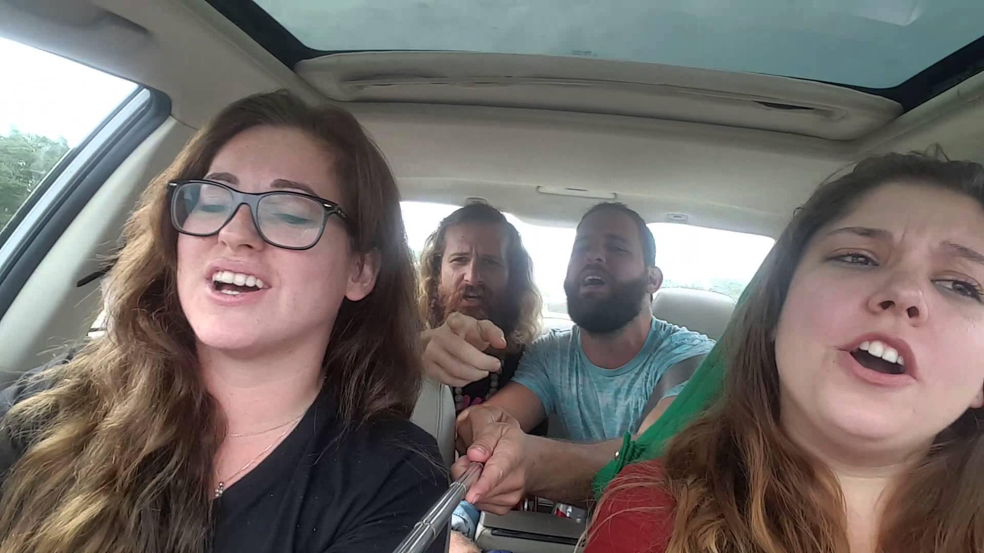 فيديو...سيلفي يتسبب في انقلاب سيارة