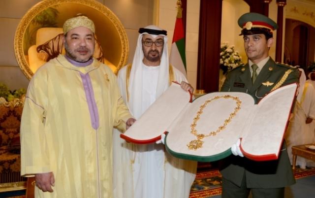 حفل استقبال رسمي للعاهل المغربي في الإمارات وتوشيحه بوسام الشيخ زايد