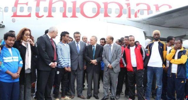 عودة الإثيوبيين الذي كانوا محتجزين في ليبيا إلى بلادهم
