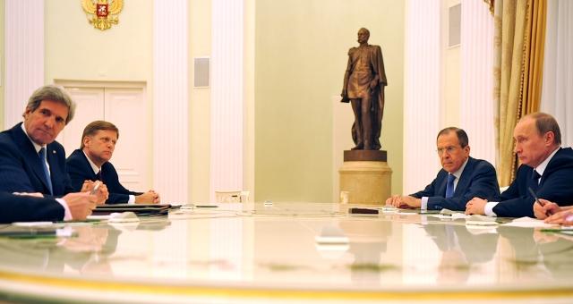 الوضع في إيران وسوريا في أجندة لقاء كيري وبوتين