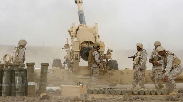 القوات السعودية ترد على الحوثيين بقصف مكثف