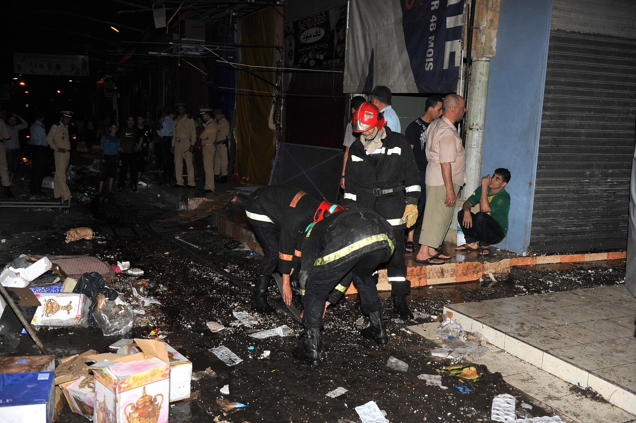 عاجل:حريق وسط القريعة بالدار البيضاء