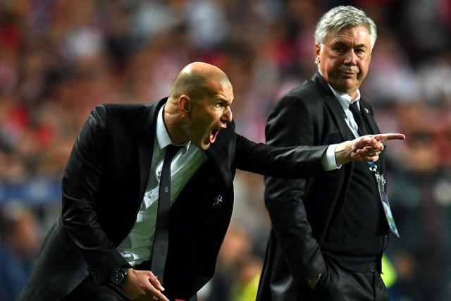 زيدان مرشح لخلافة أنشولتي في ريال مدريد