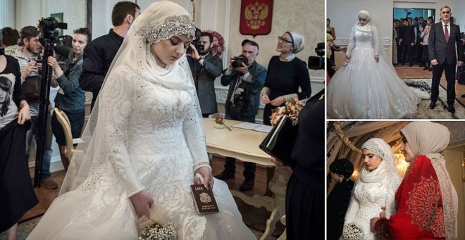 بالفيديو.. شيشانية تتزوج من ضابط شرطة تحت التهديد