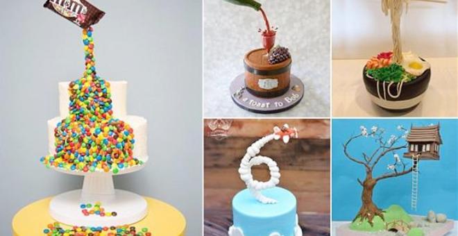 بالصور.. قوالب حلوى شهية تتحدى الجاذبية