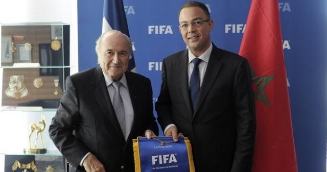 الجامعة المغربية تدعم بلاتر لرئاسة الفيفا
