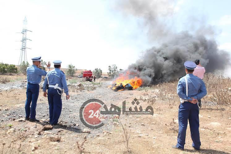 إتلاف أزيد من طنّ من مخدر الشيرا في الدار البيضاء