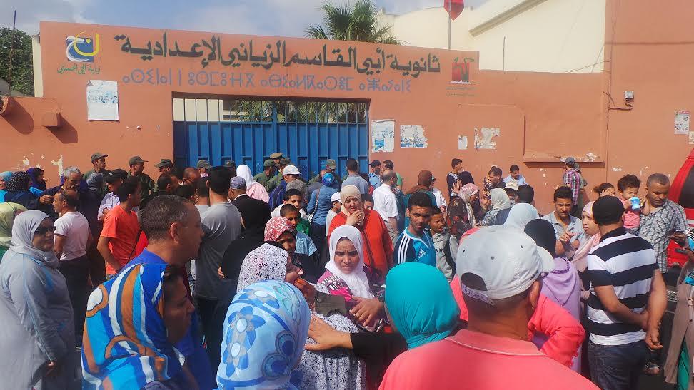 عاجل: تكسير زجاج وإصابات بعد تسريب مادة الرياضيات في الدار البيضاء