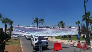 احتجاج سيارات الاجرة مطار محمد الخامس مشاهد24