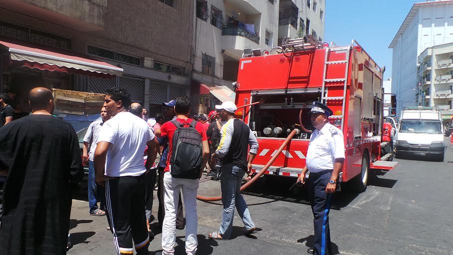 عاجل: النيران مشتعلة في المركز التجاري الأمراء في الدار البيضاء