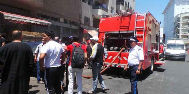 اشتعال النيران في المركز التجاري الأمراء في الدار البيضاء