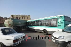 اصطدام شاحنة الغازوال بحافلة لنقل المدينة