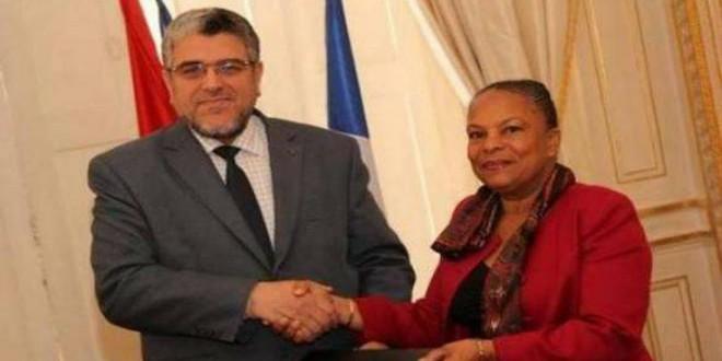 الرميد ووزيرة العدل الفرنسية
