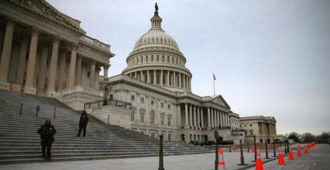 النحل يحتل مدخل الكونغرس