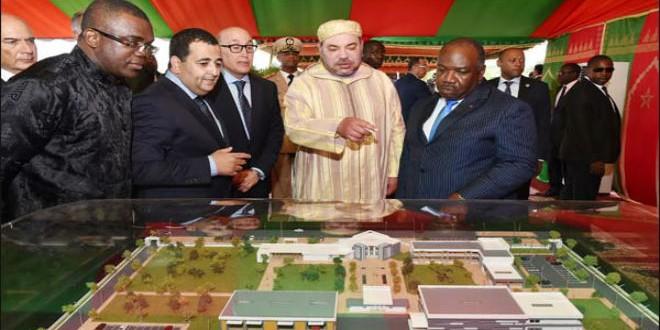الملك محمد السادس والرئيس الغابوني