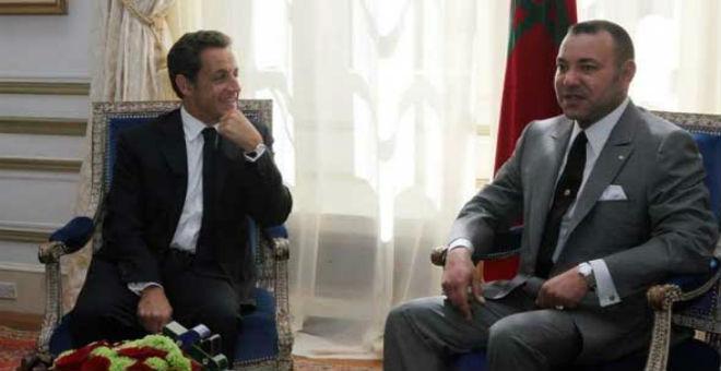 الملك محمد السادس يستقبل ساركوزي رئيس حزب