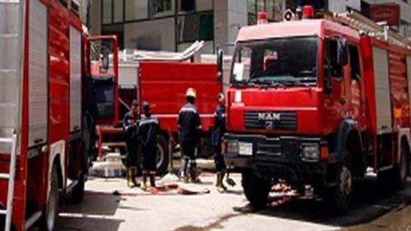 حريق في أحد أرصفة سوق الجملة في الدار البيضاء