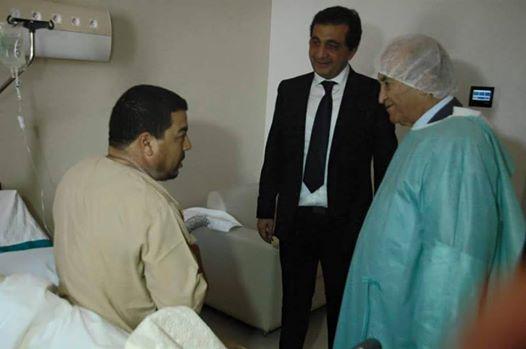 عبد الرحمان اليوسفي يزور الزميل سعيد لعجل