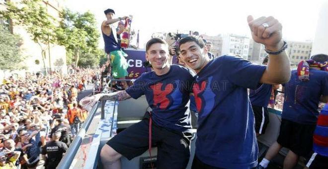 بالصور احتفالات كبيرة بتتويج برشلونة بدوري الأبطال