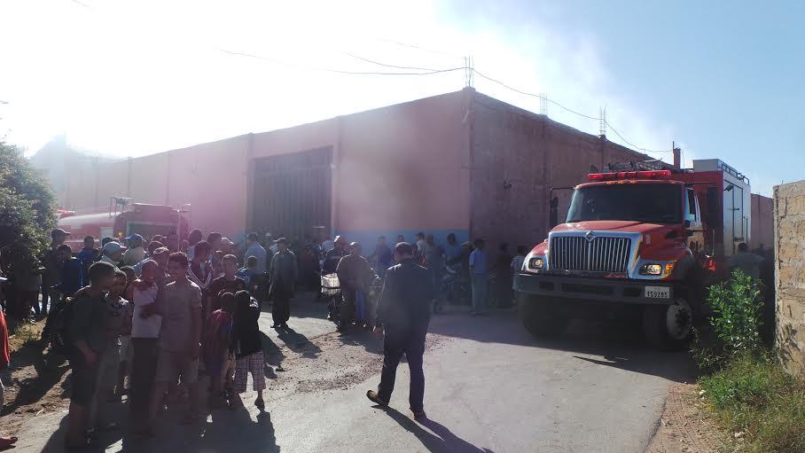 عاجل: النيران تلتهم مصنعا للحليب في الدار البيضاء