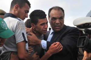 دموع عائلات ضحايا غرقى شاطئ الشراط
