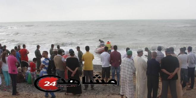 عملية البحث عن جثة الأطفال غرقى شاطئ واد الشراط