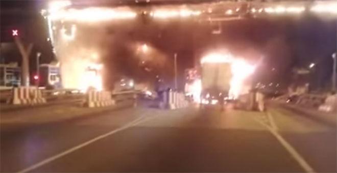 اندلاع حريق في محطة الأداء في الطريق السريع قرب برشيد