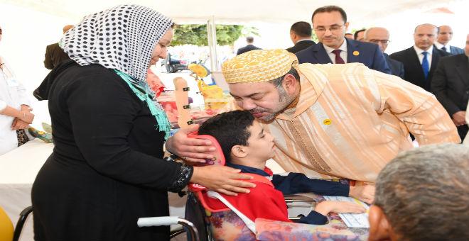 الملك يعطي انطلاقة إنجاز مركز للتكفل بالأطفال ذوي العجز الحركي الدماغي