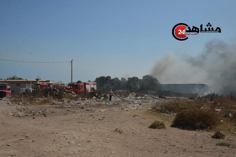 حريق في مستودع للمتلاشيات في الدار البيضاء