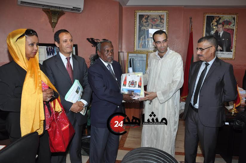 وزير العدل لدولة جيبوتي في المحكمة التجارية للدار البيضاء