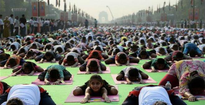 الهند تحيي اليوم العالمي لليوغا