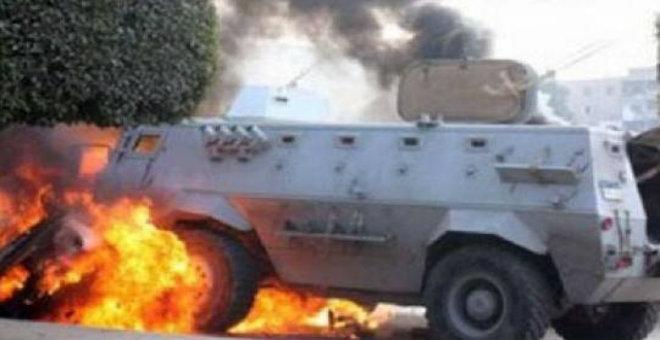 إصابة شرطيين إثر استهداف مدرعة جنوب العريش