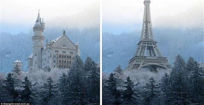بالصور: تغيير أماكن المعالم السياحية العالمية