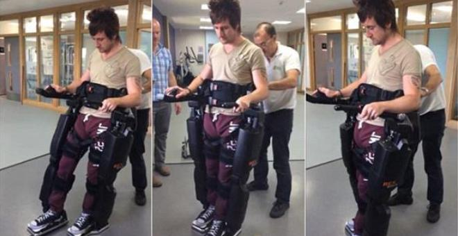 بالفيديو.. بدلة آلية تعيد لشاب مشلول قدرته على المشي