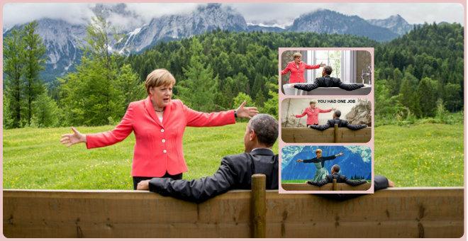 صورة تجمع أوباما بميركل تثير جدلا على الأنترنت