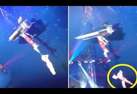 فيديو…سقوط لاعبة أكروبات في سيرك أمريكي