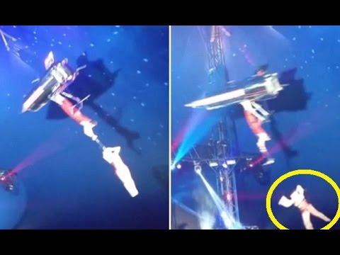 فيديو...سقوط لاعبة أكروبات في سيرك أمريكي