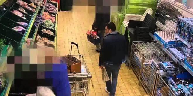 فيديو…شاهد كيف يسرق زوجان سيدة في متجر
