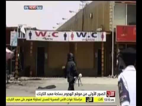 فيديو...اللقطات الأولى للهجوم على معبد الكرنك بالأقصر