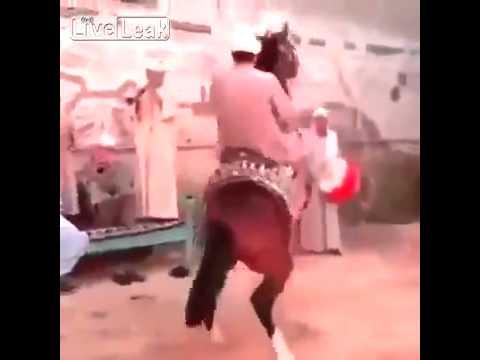 فيديو..زفة عروس على الحصان تنتهي بمصيبة!
